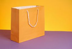 Bag. Study of color and form using buy bag stock photo
