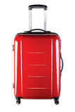 Bag. Red big bag for travel. Studio shot Royalty Free Stock Photo