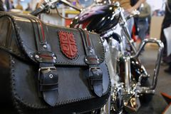 Bag. Close up photo of bike details Royalty Free Stock Images
