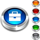 Bag 3d button. Royalty Free Stock Photo