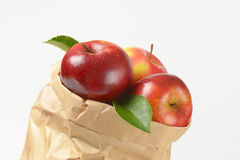 Bag of apples Royalty Free Stock Images