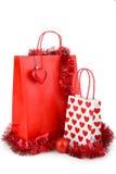 bag att shoppa för jul Arkivfoton