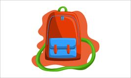 Bag Back to School Vector. Isolated Royalty Free Stock Image