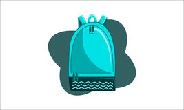 Bag Back to School Vector. Isolated Royalty Free Stock Photos