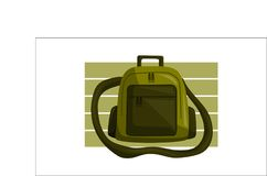 Bag Back to School Vector. Isolated Stock Image
