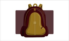Bag Back to School Vector. Isolated Stock Images