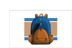 Bag Back to School Vector. Isolated Stock Photos