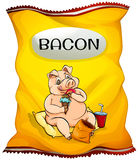 Bag of bacon chips Stock Images