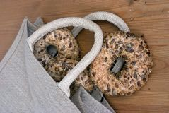 Bag of Bagels Stock Photos
