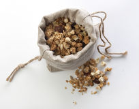 Bag with baked muesli Stock Image