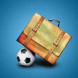 Bag and ball Stock Image