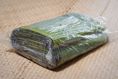 Bag of banana leaves Royalty Free Stock Image