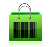 Bag with barcode Stock Photography
