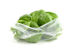 Bag of Basil Royalty Free Stock Images