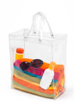 Bag With Beach Accessories Royalty Free Stock Photos