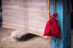 Bag and beach mat Stock Photography