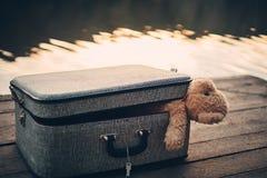 bag bear teddy 图库摄影