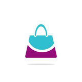 Bag beauty smile fashion logo Royalty Free Stock Photos