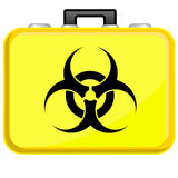 Bag with biohazard symbol Royalty Free Stock Photo