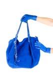bag blåa handkvinnor Royaltyfri Fotografi