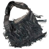 Bag black from a skin Royalty Free Stock Photo