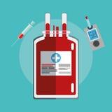 bag blood diabetes test syringe royalty free stock photos
