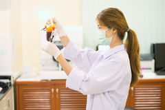 Bag of Blood in hand asian Doctor Royalty Free Stock Photo