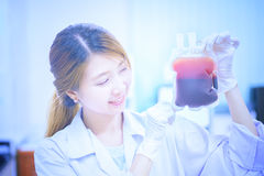 Bag of Blood in hand asian  Doctor Royalty Free Stock Images