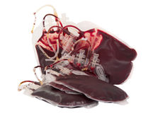 Bag of blood isolated Royalty Free Stock Photography