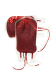 Bag with blood isolated Stock Photo