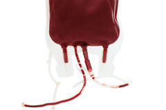 Bag with blood isolated Royalty Free Stock Photo