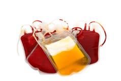 Bag of blood and plasma Stock Photo