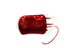Bag of blood and plasma isolated Royalty Free Stock Images