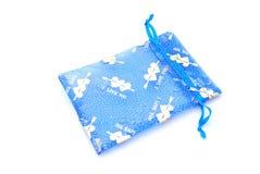 bag blue gift Στοκ φωτογραφία με δικαίωμα ελεύθερης χρήσης