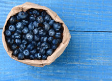 Bag of Blueberries Stock Images