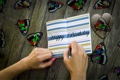 Happy birthday card illustration foto stock photography