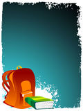 Bag and book. On grungy background vector illustration