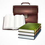 Bag and book Royalty Free Stock Photos