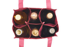 Bag with  bottles Stock Image