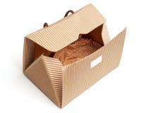 Bag box made of corrugated cardboard Stock Photo