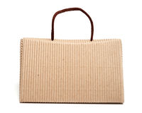 Bag box made of corrugated cardboard Royalty Free Stock Photo