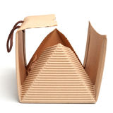 Bag box made of corrugated cardboard Royalty Free Stock Image