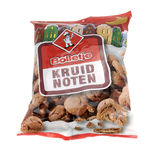 Bag with brand Bolletje spice nuts. Stock Photos