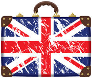 Bag with a British flag. Travel bag with a British flag Stock Photo