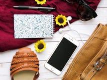 Bag, Brown, Eyewear Stock Images