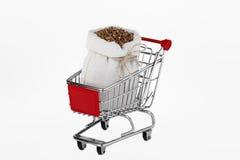 Bag with buckwheat Stock Photo