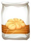 Bag of butter cookies. Illustration royalty free illustration
