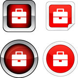 Bag  button set. Royalty Free Stock Images