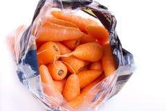 Bag of Carrots stock photos