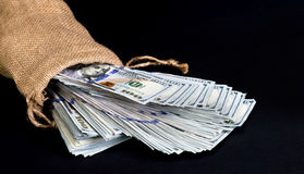Bag of Cash. Stock Images